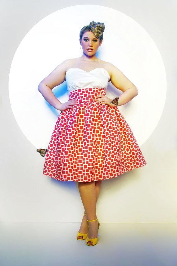 1896dcbefc2 JIBRI Plus Size High Waist Flare Skirt (Limited Print) ...