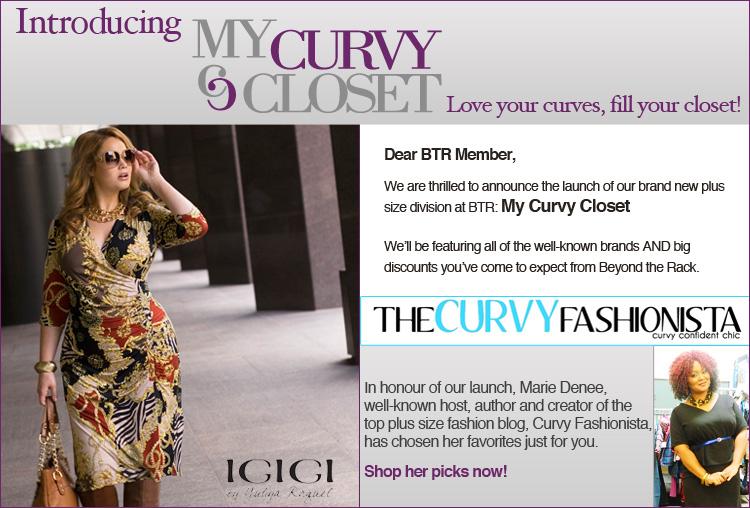 Beyond The Rack Launches Plus Size Flash Sale Site My Curvy Closet