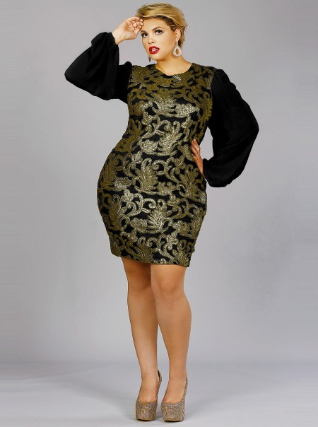 Monif C Holiday Collection 2012 Glitz And Glamour Curvy